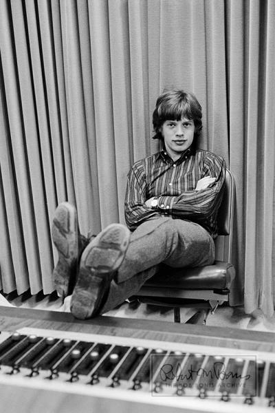 Mick Jagger at RCA Studios, Hollywood, CA, 1965