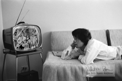 Mick Jagger Watching TV, Chicago, IL, October, 1964 #1