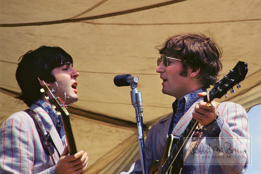 Paul McCartney and John Lennon On Stage, Crosley Field, Cincinnati, OH, August 21, 1966 #1
