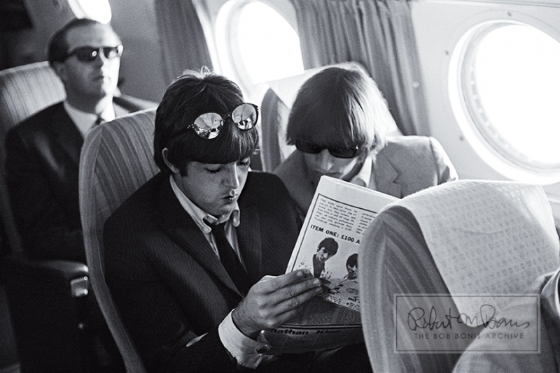 Paul McCartney and Ringo Starr En Route to San Francisco, California, August 30, 1965 #1