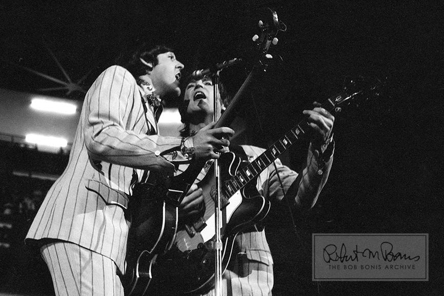 Paul McCartney and John Lennon On Stage, Olympia Satdium, Detroit, MI, August 13, 1966 #1