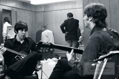 Paul McCartney and John Lennon Backstage, Olympia Stadium, Detroit, MI, August 13, 1966 #1