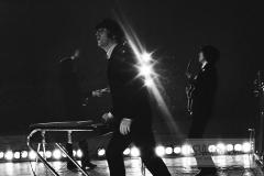 George Harrison, John Lennon and Paul McCartney, Metropolitan Stadium, Bloomington, MN, August 21, 1965 #10