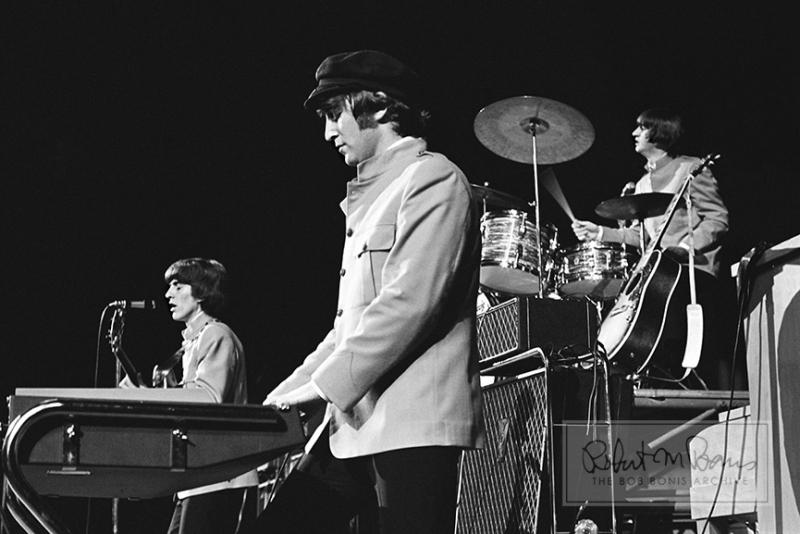John Lennon, George Harrison, Ringo Starr, Memorial Coliseum, Portland, OR, August 22, 1965 #1