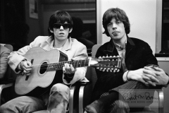Mick Jagger and Keith Richards with Harmony 12-string Guitar, 1965 #1