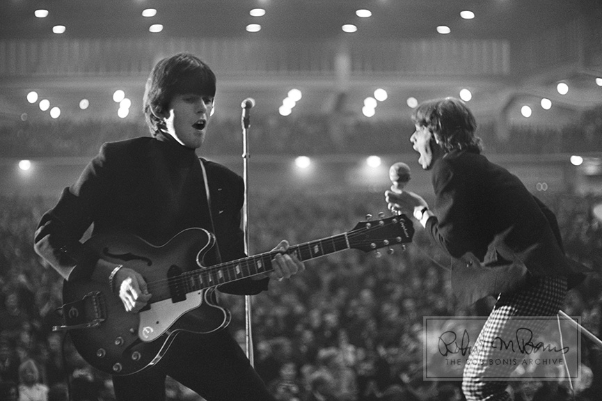 Keith Richards and Mick Jagger on Stage, Hamburg, West Germany, September 13, 1965