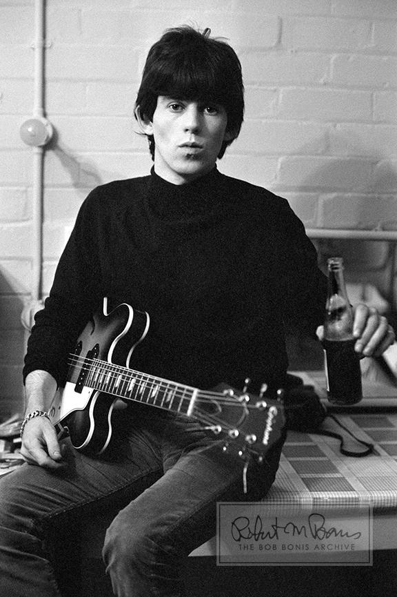 Keith Richards Backstage with Guitar and Pepsi, 1965