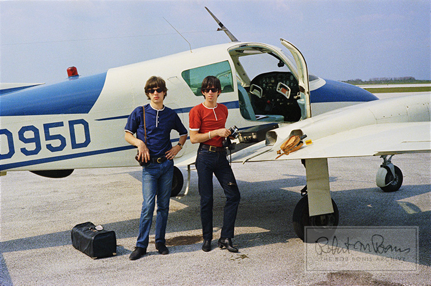 Mick Jagger and Keith Richards, Clearwater Airpark, Florida, May 7, 1965 #1