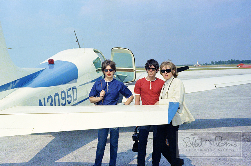 Mick Jagger, Keith Richards, Brian Jones, Clearwater Airpark, FL, May 7, 1965 #1