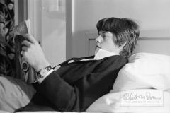 Mick Jagger Reading Playboy Magazine, Los Angeles, California, May 1965 #1