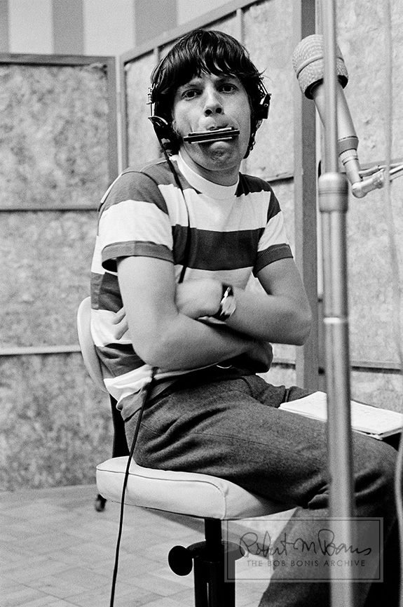 Mick Jagger With Harmonica, RCA Studios, Hollywood, CA, May 18-19, 1965 #1