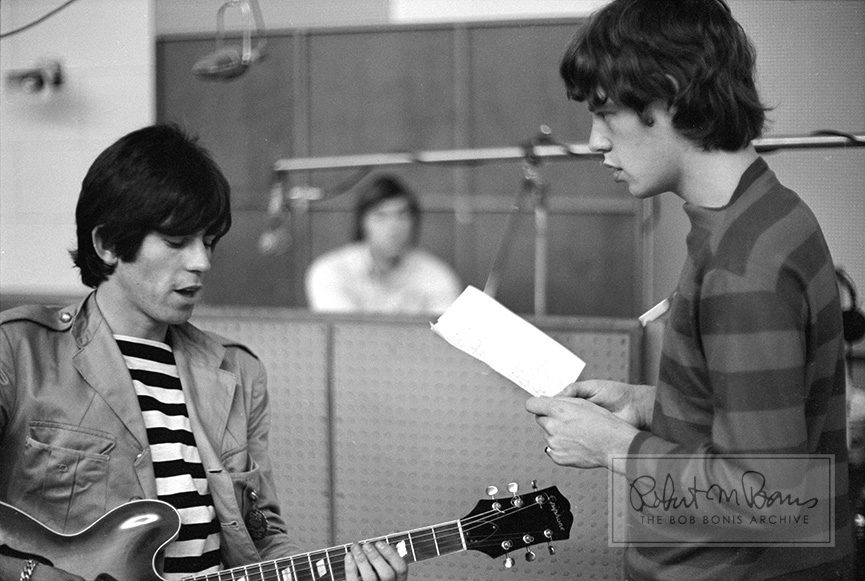 Keith Richards, Mick Jagger, Charlie Watts, RCA Studios, Hollywood, CA., September 6-7, 1965 #1
