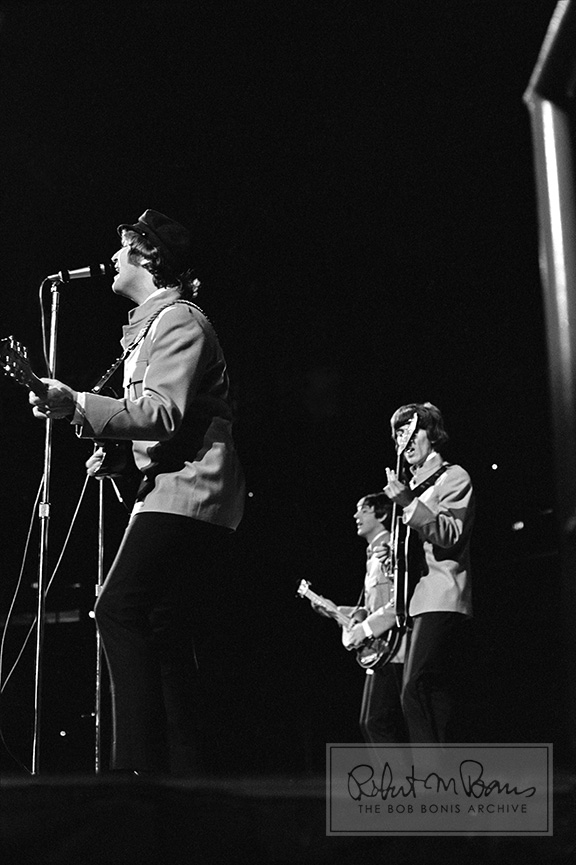 John Lennon, Paul McCartney, George Harrison, Memorial Coliseum, Portland, OR, August 22, 1965 #1