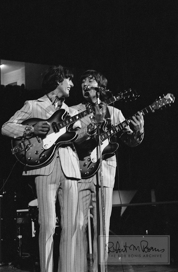 George Harrison, John Lennon, Olympia Stadium, Detroit, MI, August 13, 1966 #1