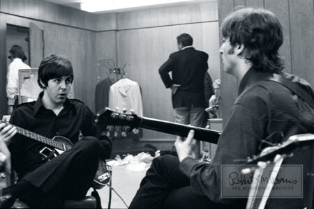 Paul McCartney and John Lennon Backstage, Olympia Stadium, Detroit, MI, August 13, 1966 #1