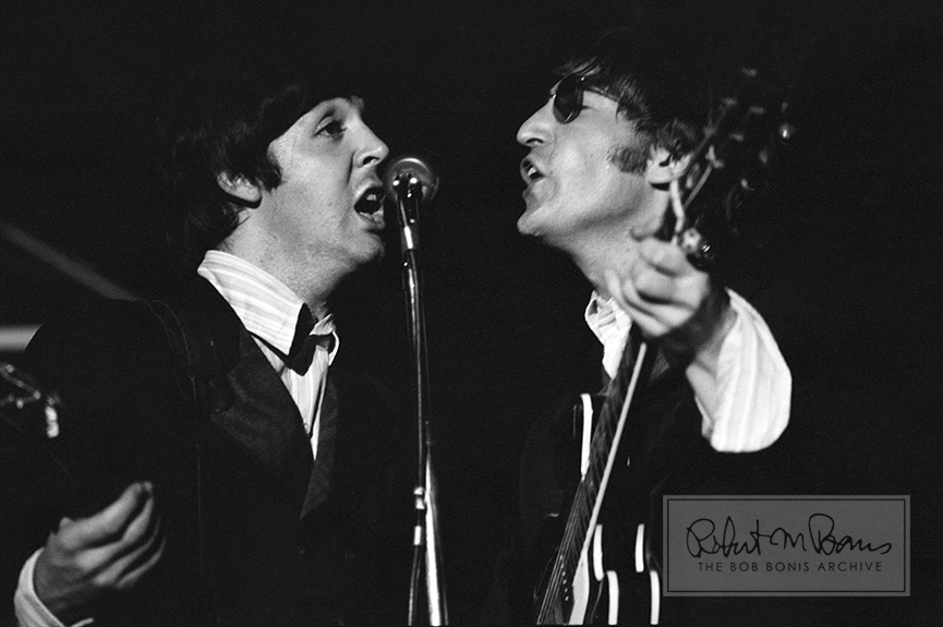 Paul McCartney and John Lennon On Stage, JFK Stadium, Philadelphia, PA, August 16, 1966 #1