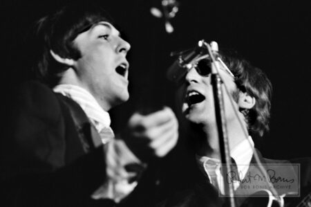 Paul McCartney and John Lennon On Stage, Mid-South Coliseum, Memphis, TN, August 19, 1966 #1