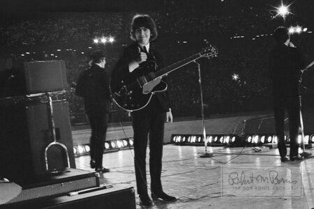 George Harrison, John Lennon and Paul McCartney, Metropolitan Stadium, Bloomington, MN, August 21, 1965 #4