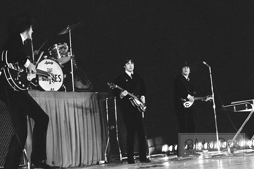 George Harrison, John Lennon and Paul McCartney, Metropolitan Stadium, Bloomington, MN, August 21, 1965 #6
