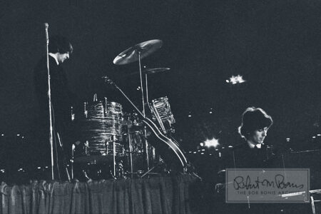Ringo Starr and George Harrison, Metropolitan Stadium, Bloomington, MN August 21, 1965