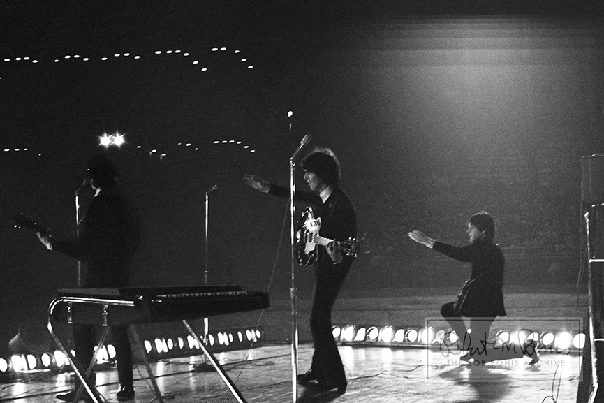 George Harrison, John Lennon and Paul McCartney, Metropolitan Stadium, Bloomington, MN, August 21, 1965 #8