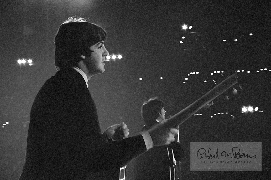 Paul McCartney and George Harrison, Metropolitan Stadium, Bloomington, MN, August 21, 1965 #1