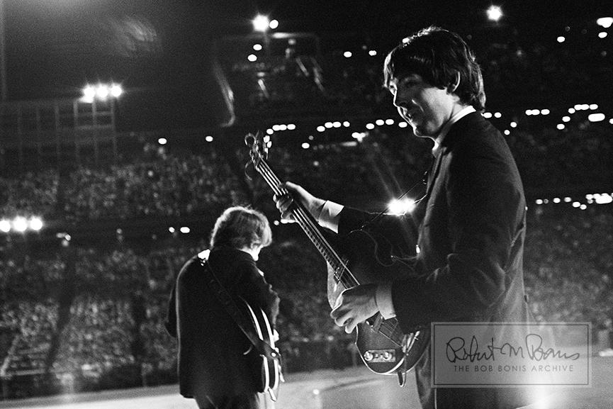 Paul McCartney and George Harrison, Metropolitan Stadium, Bloomington, MN, August 21, 1965 #5