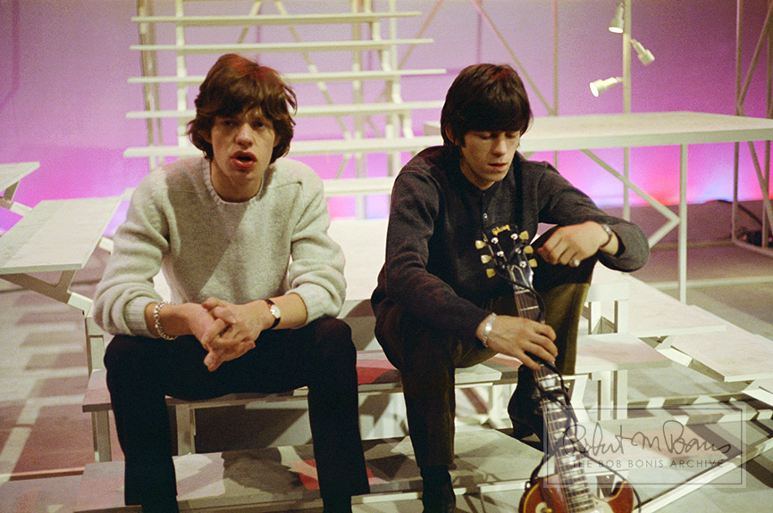 Mick Jagger and Keith Richards, T.A.M.I. Show, Santa Monica, CA.,October 28, 1964 #1