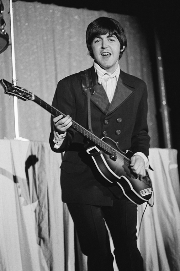 a beatle sandwich Paul McCartney rocks out on his Hofner bass at JFK Stadium in Philadelphia, Pennsylvania, August 10, 1966.
